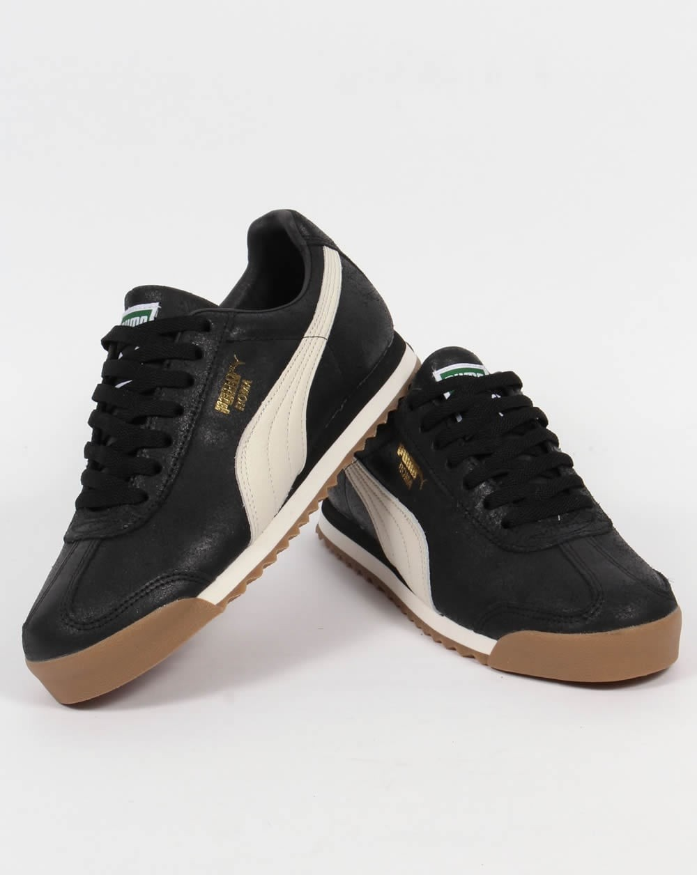 puma roma black cheap   OFF65% Discounted 2a659f20d