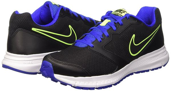 nike downshifter 6 black blue