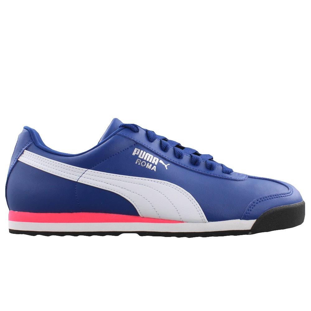 Puma Roma Blue and White