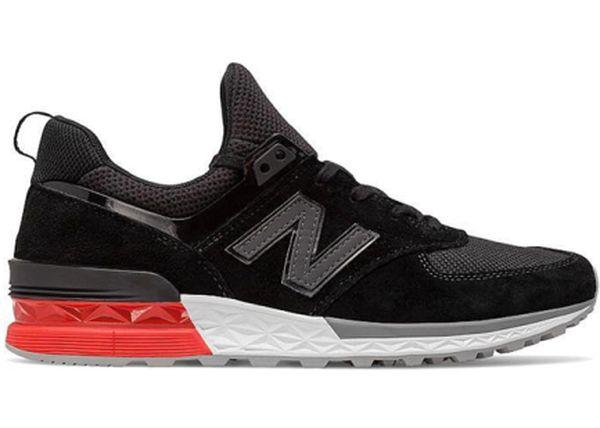 "newest 20518 cf181 New Balance 574 Sport ""Black Red"". Black   Red   Grey"