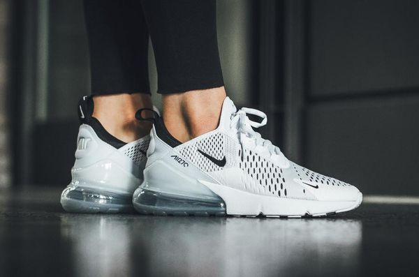 NIKE AIR MAX 270 WHITE on feet