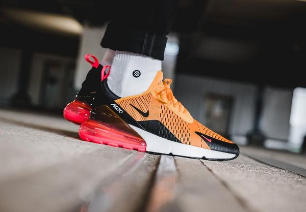 Nike Air Max 270 Orange on feet