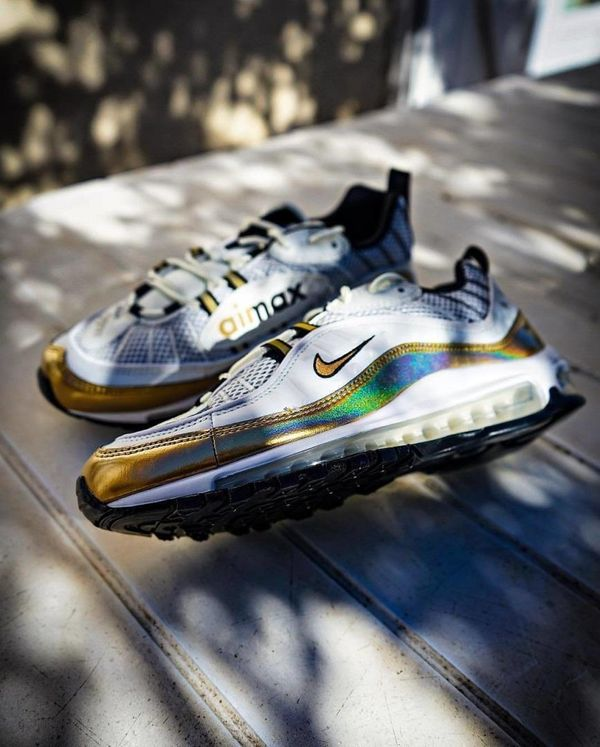 "Nike Air Max 98 Gold ""UK"" pair"
