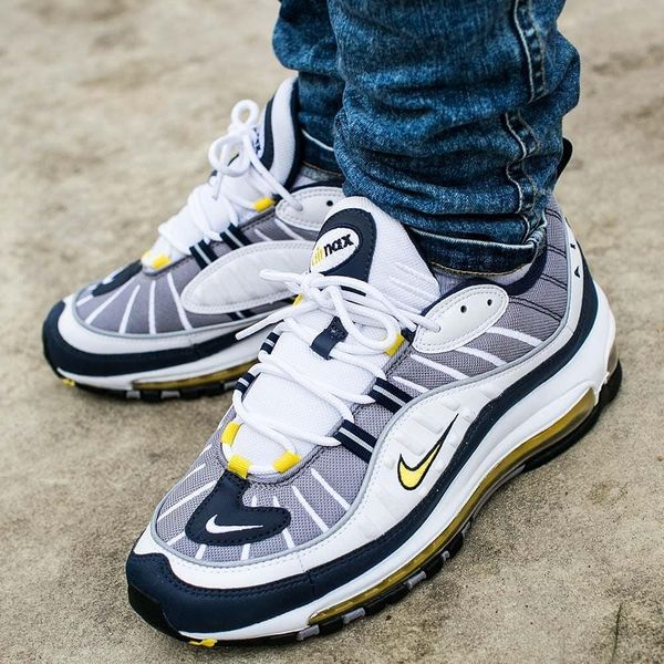 Nike Air Max 98 Yellow (Fearless 90s) on foot