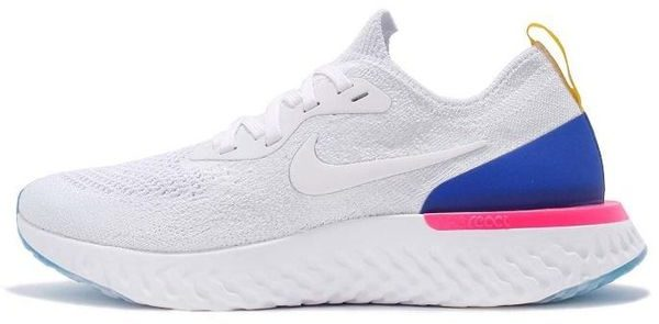 Nike Epic React Flyknit White Racer Blue