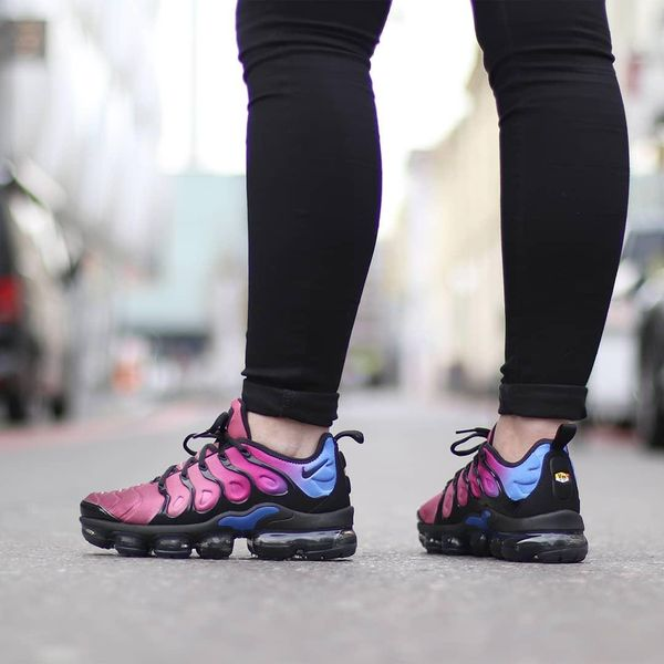 Nike Air VaporMax Plus Red on feet