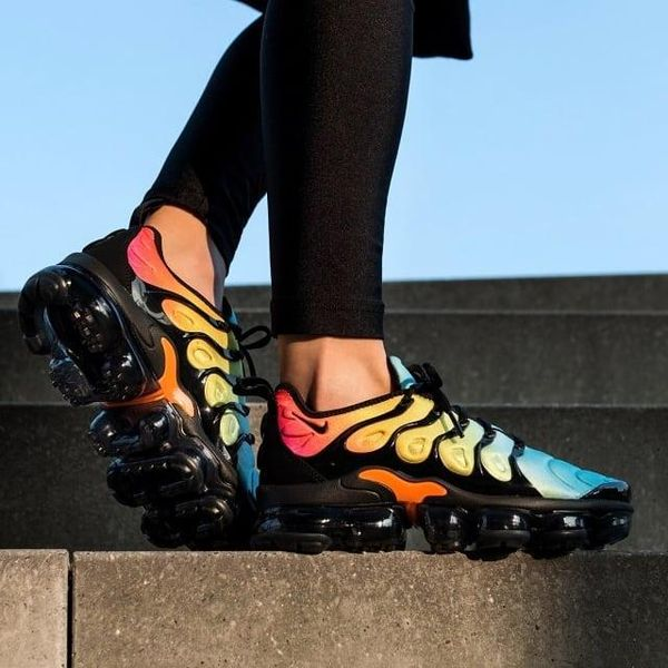 Nike Air VaporMax Plus multi on feet