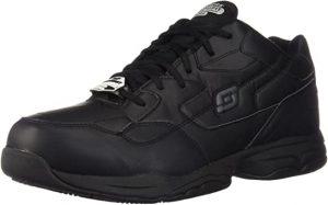 Skechers for Work Men's Felton Slip Resistant Relaxed-Fit Work Shoe