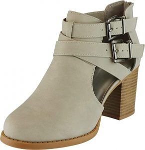 Cambridge Side Cut Out Buckle Bootie