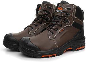 DRKA Men's Steel Toe Work Boots Waterproof Safety Shoes