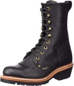 Ad Tec Men's 9 in Fireman Logger Full Grain Oiled Leather Certified Work Boot