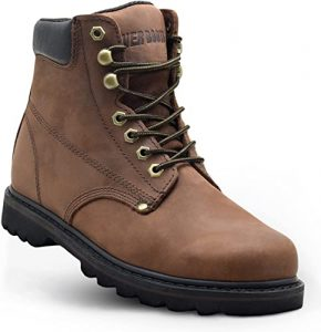 """EVER BOOTS""""Tank"""" Men's Soft Toe Oil Full Grain Leather Work Boots"""