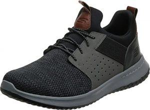 Skechers Unisex-Adult Classic Fit-Delson-Camden Sneaker